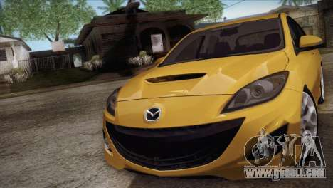 Mazda Mazdaspeed3 2010 for GTA San Andreas back left view