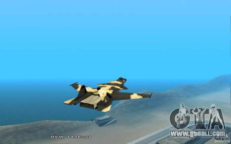 Su-32 Golden Eagle for GTA San Andreas back view