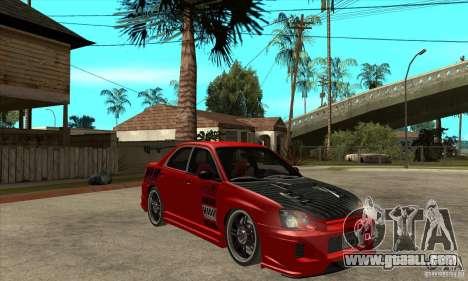 Subaru Impreza 2005 Tuned for GTA San Andreas back view