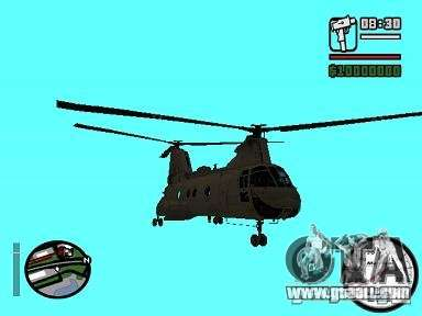 CH-46 SeaKnight for GTA San Andreas back left view