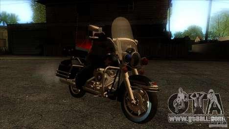 Harley Davidson for GTA San Andreas back view