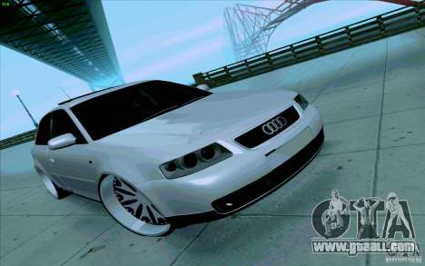 Audi A3 DUB Edition for GTA San Andreas inner view