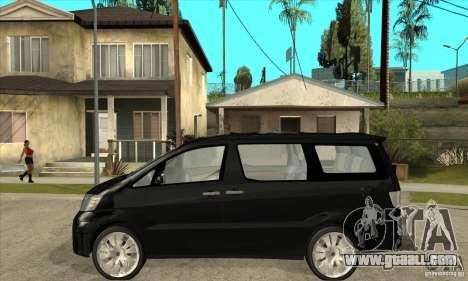 Toyota Alphard Hybrid for GTA San Andreas left view