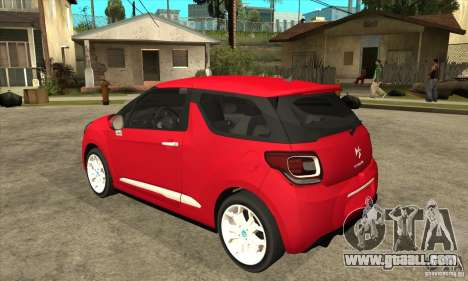 Citroen DS3 2011 for GTA San Andreas back left view