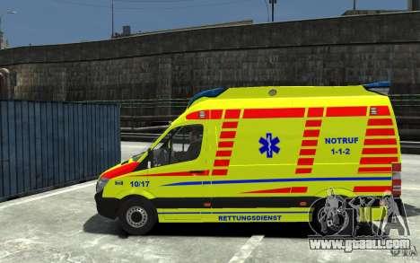 Mercedes-Benz Sprinter 2011 Ambulance for GTA 4 left view