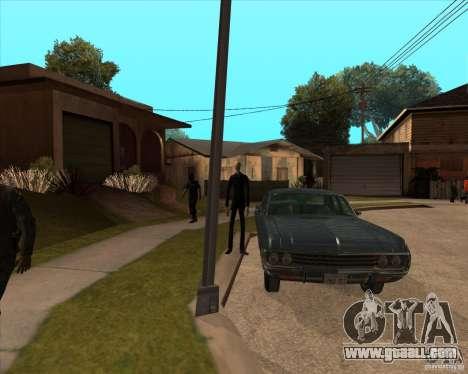 Slender in dark glasses for GTA San Andreas third screenshot