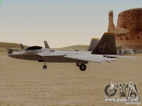 FA22 Raptor for GTA San Andreas right view