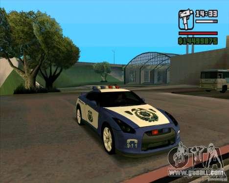 Nissan GTR35 Police Undercover for GTA San Andreas