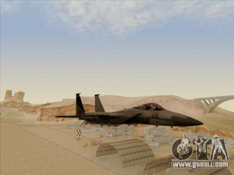 F-15C for GTA San Andreas back view