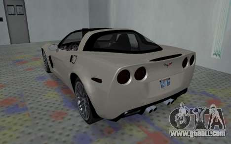 Chevrolet Covette Z06 for GTA San Andreas right view