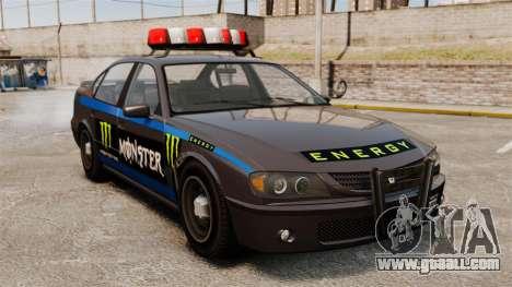Police Monster Energy for GTA 4 left view