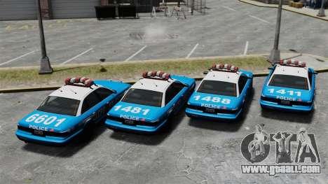 Vapid Police Cruiser ELS for GTA 4 back view