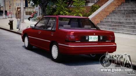 Mercury Tracer 1993 v1.0 for GTA 4 back left view