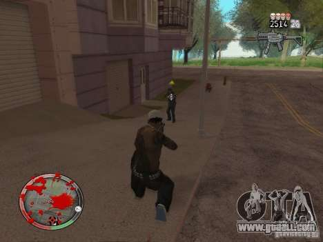 GTA IV HUD v4 by shama123 for GTA San Andreas fifth screenshot