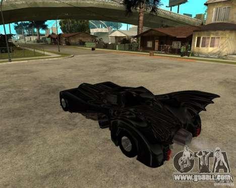 Batmobile for GTA San Andreas left view