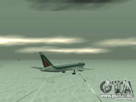 Boeing 767-300 Alitalia for GTA San Andreas back view