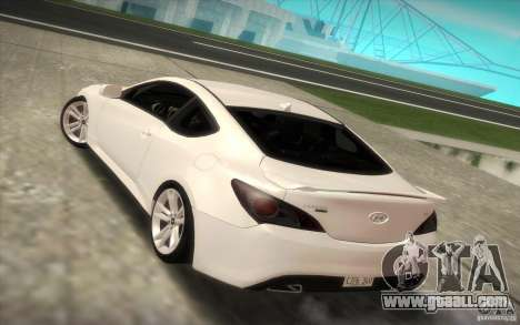 Hyundai Genesis 3.8 Coupe for GTA San Andreas left view