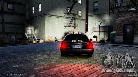 Ford Crown Victoria CVPI-K9 V6.9A-LAPD-ELS for GTA 4 back view