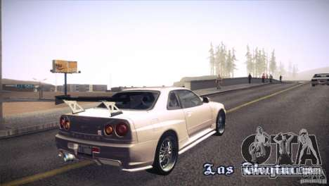 Nissan Skyline R34 for GTA San Andreas side view