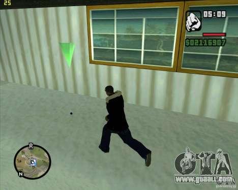 Throw a snowball for GTA San Andreas
