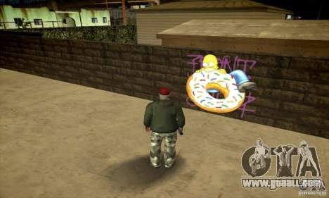 Simpson Graffiti Pack v2 for GTA San Andreas fifth screenshot