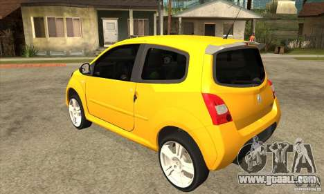 Renault Twingo RS 2009 for GTA San Andreas back left view
