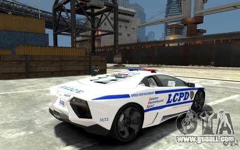 Lamborghini Reventon LCPD for GTA 4 right view