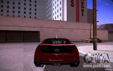 Chevrolet Volt for GTA San Andreas back view