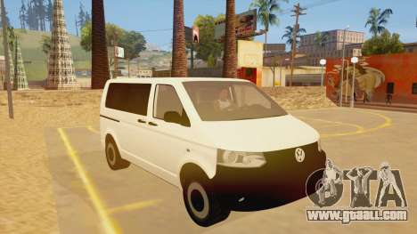 Volkswagen Transporter T5 Facelift 2011 for GTA San Andreas back view