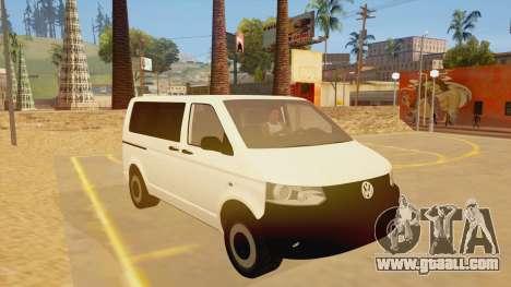 Volkswagen Transporter T5 Facelift 2011 for GTA San Andreas back view
