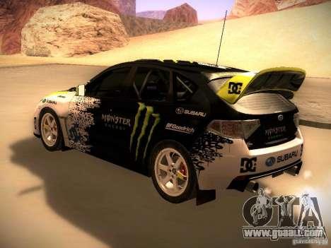 Subaru Impreza Gymkhana for GTA San Andreas right view