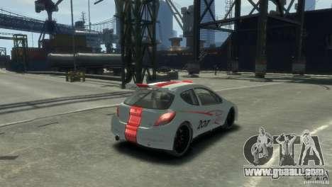 Peugeot 207 for GTA 4 left view