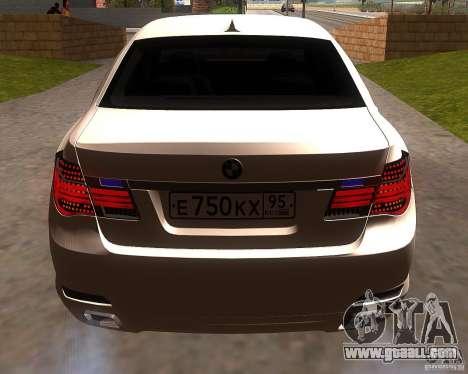 BMW 750Li 2010 for GTA San Andreas right view