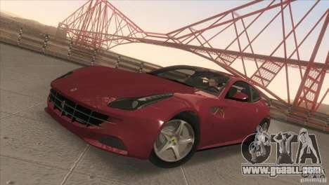 Ferrari FF 2011 V1.0 for GTA San Andreas inner view