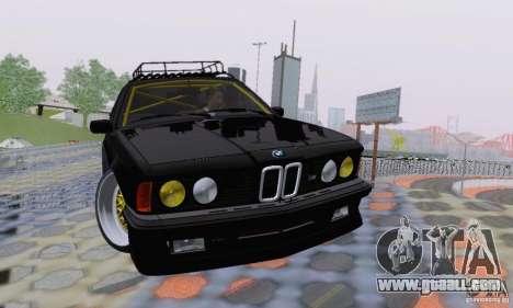BMW M635CSi Stanced for GTA San Andreas bottom view