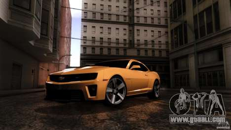Chevrolet Camaro ZL1 2011 v1.0 for GTA San Andreas right view