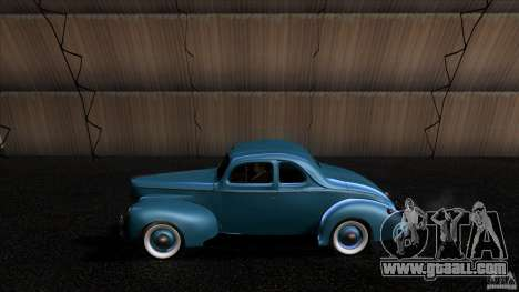 Ford Deluxe Coupe 1940 for GTA San Andreas left view