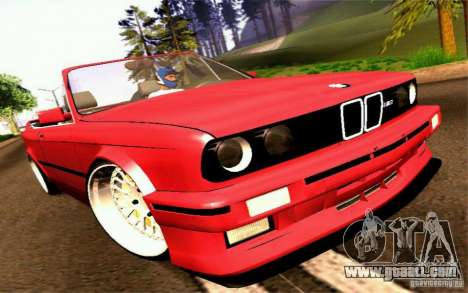 BMW E30 M3 Cabrio for GTA San Andreas back left view
