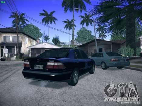 Mazda 626 GF 1999 for GTA San Andreas upper view