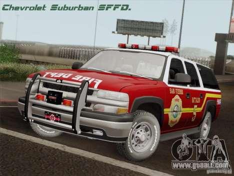 Chevrolet Suburban SFFD for GTA San Andreas