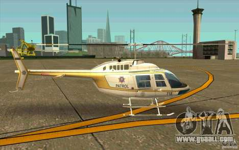 Bell 206 B Police texture4 for GTA San Andreas back left view