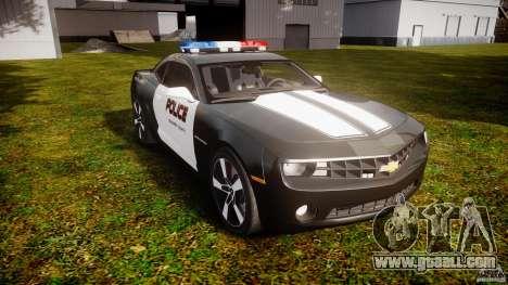 Chevrolet Camaro Police (Beta) for GTA 4 back view