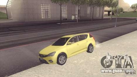Kia Ceed for GTA San Andreas right view