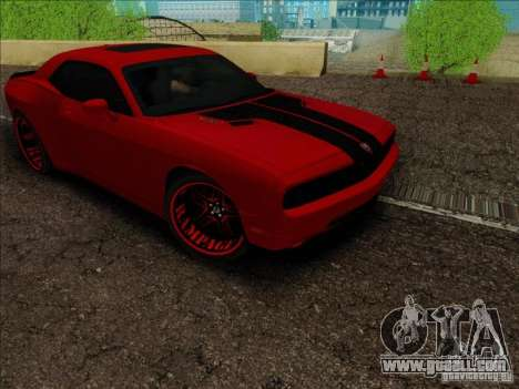 Dodge Quinton Rampage Jackson Challenger SRT8 v1 for GTA San Andreas back view