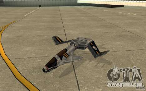 Hawk air Command and Conquer 3 for GTA San Andreas left view