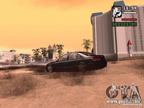 Hyundai Sonata Edit for GTA San Andreas back left view