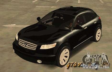 INFINITY FX45 for GTA San Andreas