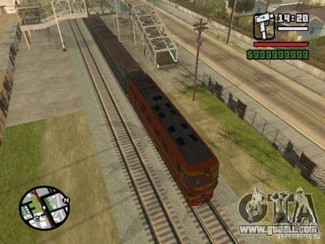 Locomotive TEP-60 for GTA San Andreas left view
