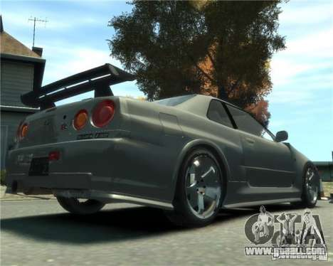Nissan Skyline GT-R34 Nismo for GTA 4 left view