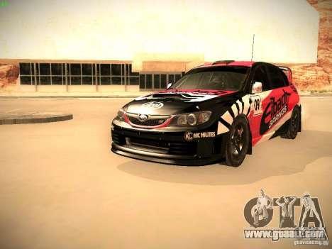 Subaru Impreza Gymkhana for GTA San Andreas interior